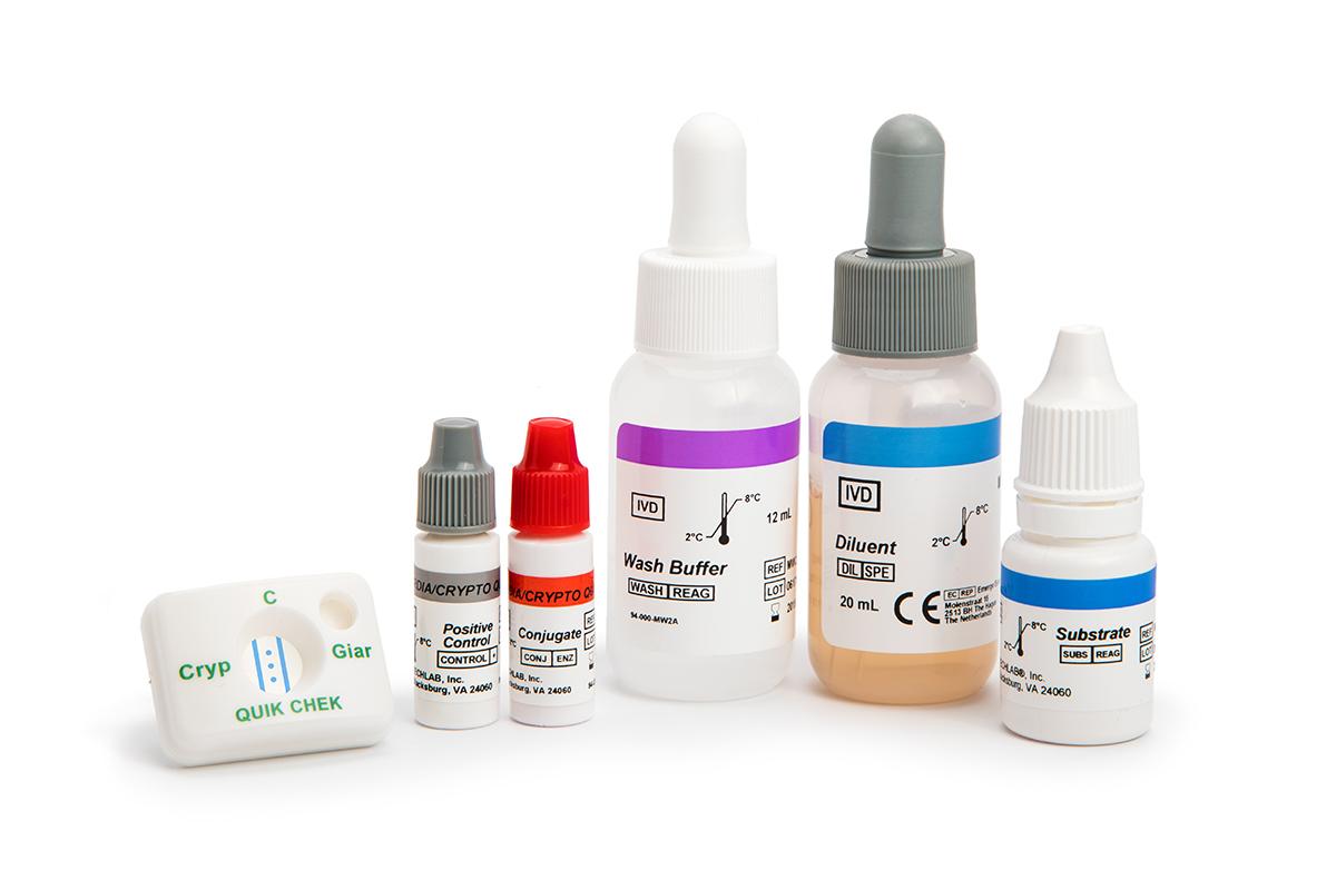 Colony enumeration and detection Giardia cryptosporidium chek