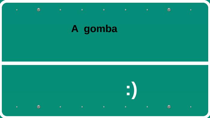 gomba 5. osztály