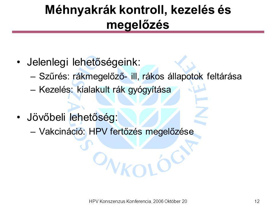 humán papillomavírus vakcinarák)