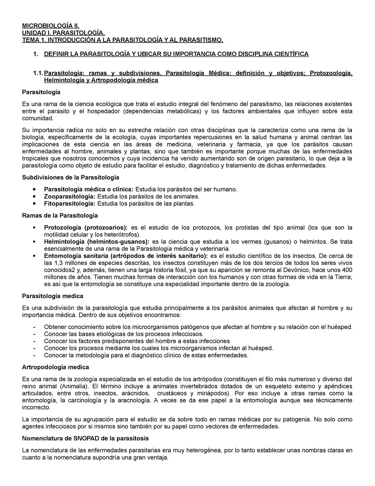 Helmintológia és protozoológia. Egészségügyi jegyzetek - 1 - Mikrobiológia - Parazitológia