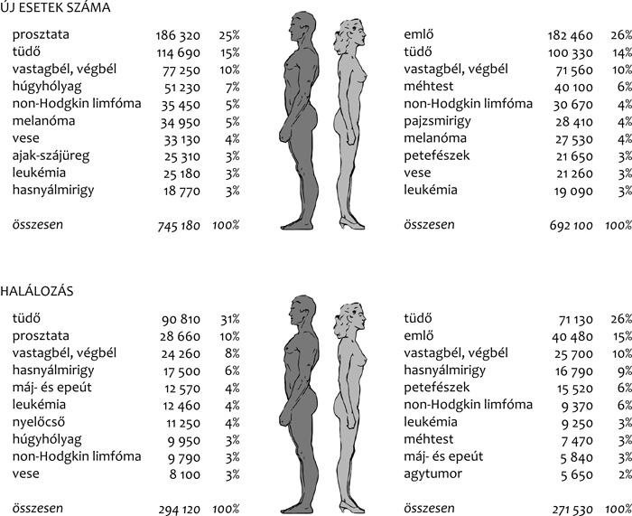 vastagbélrák nemi különbségek