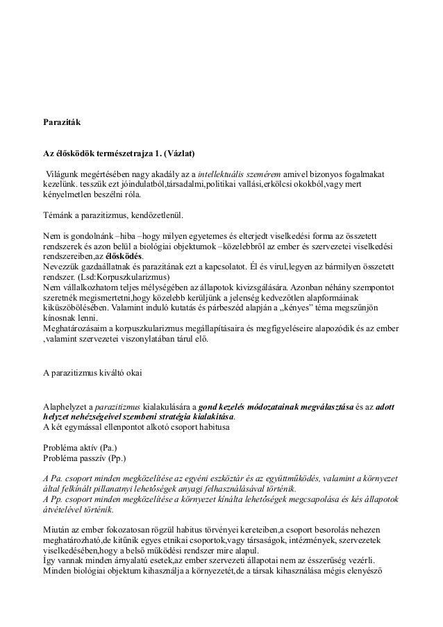 Parazita-bélféreg irtás természetes módszerekkel   Természetes-Egészséges-Bioexpress Megoldások