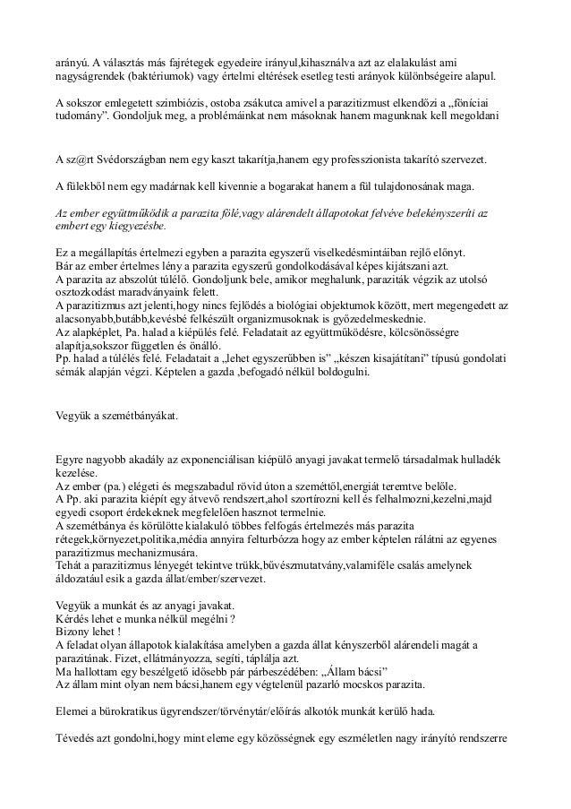 Parazita állapotok - receptadatbazis.hu